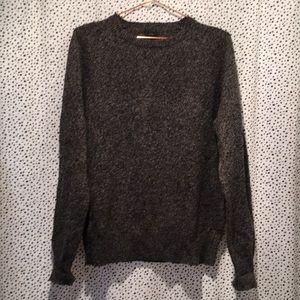 J crew M 100% wool crew neck sweater marled